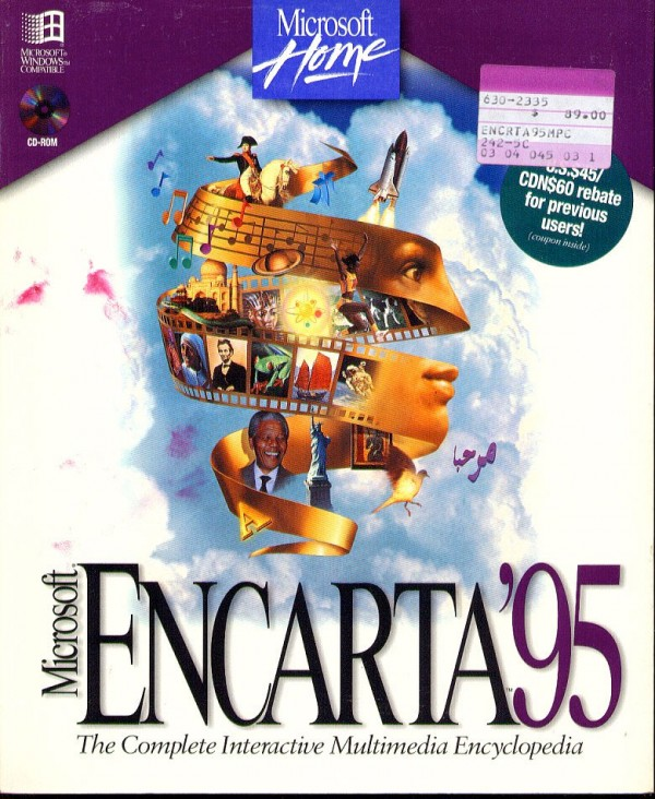 The Encarta '95 box. Brimming with personality.